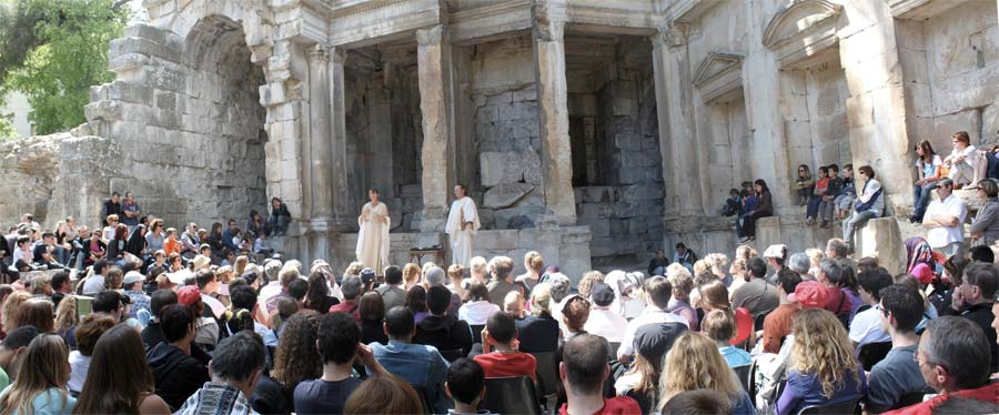 Le Mystère des Alyscamps au temple de Diane à Nîmes