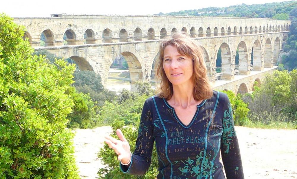 Sophie au Pont-du-Gard
